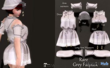 New Release: Luli Grey Dress & Accessories Gacha by Les Sucreries de Fairy @ WIP Event July 2020 - Teleport Hub - teleporthub.com