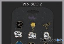 Pin Set 2 August 2020 Gift by Star Sugar - Teleport Hub - teleporthub.com