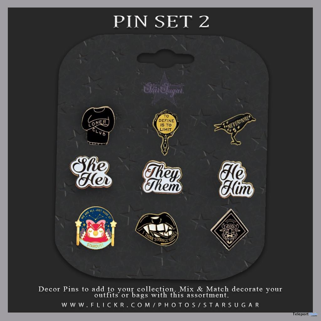 Pin Set 2 August 2020 Gift by Star Sugar - Teleport Hub - teleporthub.com