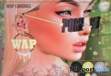 WAP Earrings August 2020 Group Gift by Boutique #187# - Teleport Hub - teleporthub.com