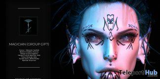 Magician Face Tattoo August 2020 Group Gift by Nefekalum Tattoos - Teleport Hub - teleporthub.com