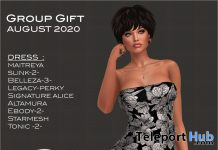 Leafy Black Dress August 2020 Group Gift by Selene Creations - Teleport Hub - teleporthub.com