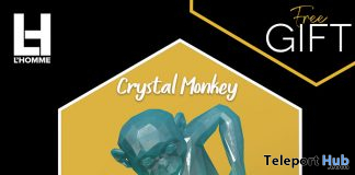Crystal Monkey August 2020 Group Gift by Rezz Room - Teleport Hub - teleporthub.com