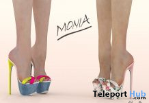 Monia Shoes Fatpack August 2020 Group Gift by VeNuS Shoes - Teleport Hub - teleporthub.com
