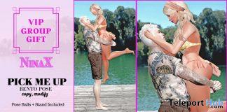 Pick Me Up Couple Bento Pose August 2020 Group Gift by NinaX - Teleport Hub - teleporthub.com