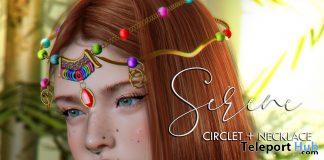 Serene Circlet & Necklace August 2020 Group Gift by Belle Epoque - Teleport Hub - teleporthub.com