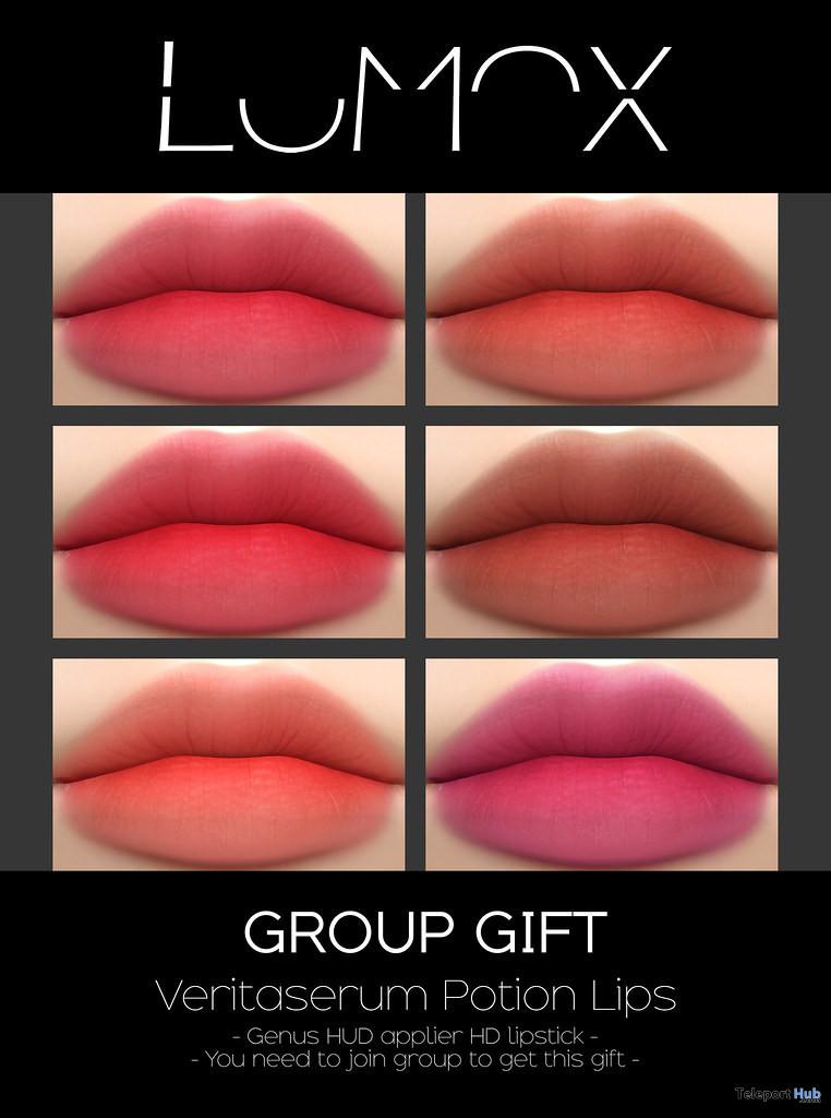 Veritaserum Potion Lips September 2020 Group Gift by LUMOX - Teleport Hub - teleporthub.com