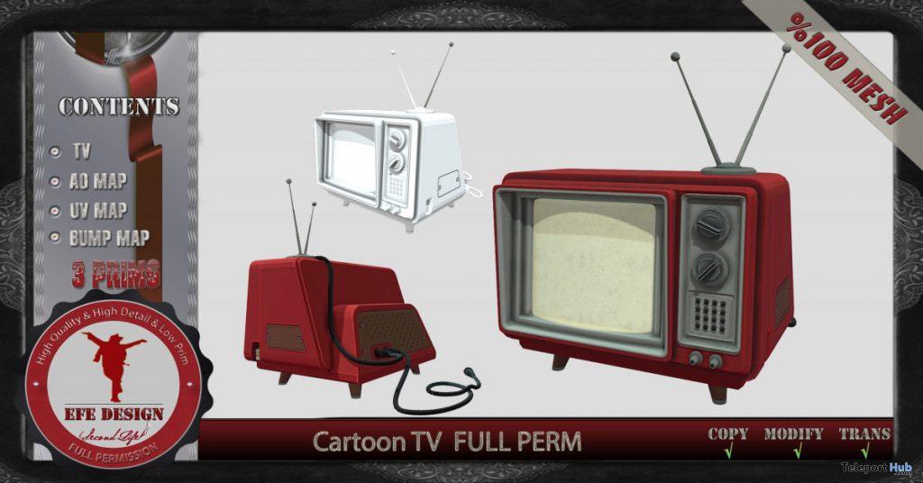 Cartoon TV Full Perm 1L Promo Gift by EFE DESIGN - Teleport Hub - teleporthub.com