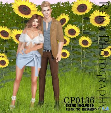 Couple Pose CP0136 August 2020 Gift by Reina Photography - Teleport Hub - teleporthub.com