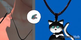 Kawaii Cat Necklace August 2020 Group Gift by Snappy Wears - Teleport Hub - teleporthub.com