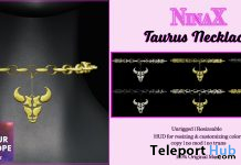 Taurus Necklace 60L Promo by NinaX - Teleport Hub - teleporthub.com