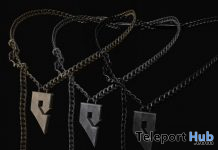 Left Chain G-Necklace Gift by GABRIEL @ The Men Dept August 2020 - Teleport Hub - teleporthub.com