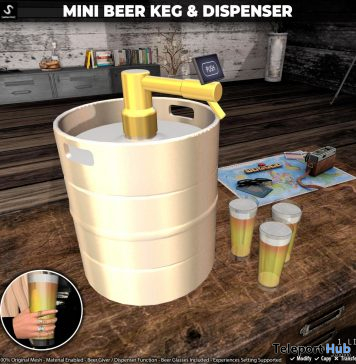 New Release: Mini Beer Keg & Dispenser by [satus Inc] - Teleport Hub - teleporthub.com