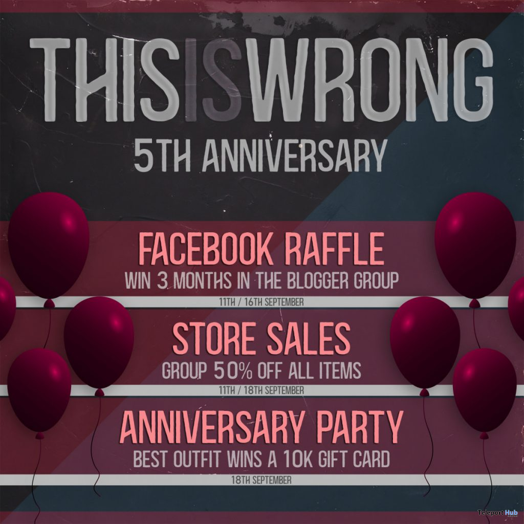 THIS IS WRONG 5th Anniversary Celebrations 2020 - Teleport Hub - teleporthub.com