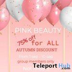 [pink beauty] 75% OFF Sale Event September 2020 - Teleport Hub - teleporthub.com