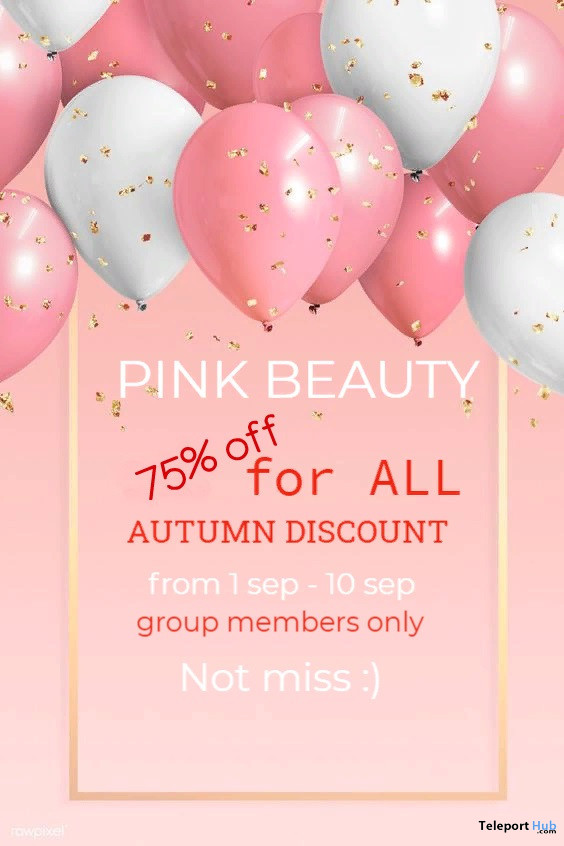 [pink beauty] 75% OFF Sale Event September 2020 - Teleport Hub - teleporthub.com