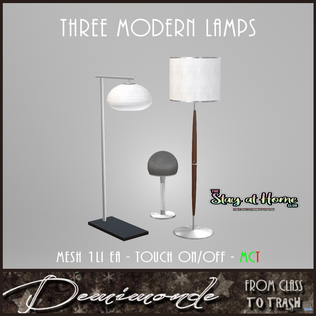 Three Midcentury Lamps September 2020 Gift by Demimonde - Teleport Hub - teleporthub.com