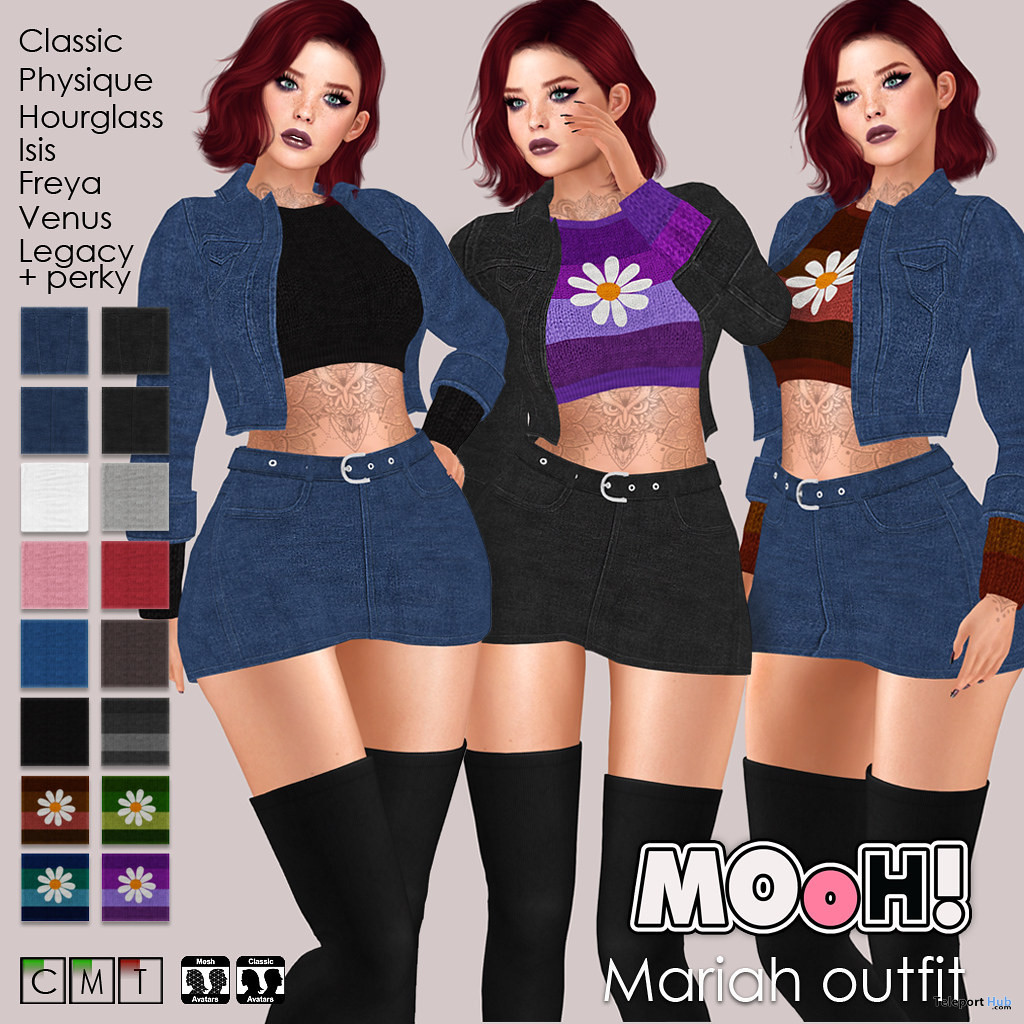 Mariah Outfit Fatpack September 2020 Group Gift by MOoH! - Teleport Hub - teleporthub.com