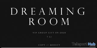 Dreaming Room Backdrop September 2020 Group Gift by FOXCITY - Teleport Hub - teleporthub.com