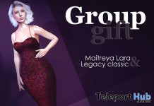 Goddess Gown September 2020 Group Gift by MAAI - Teleport Hub - teleporthub.com