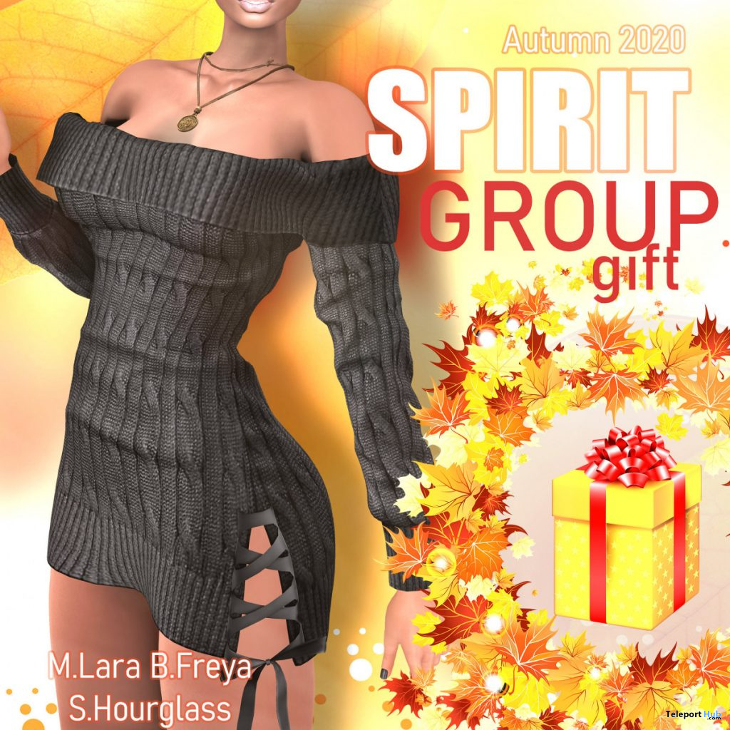 Autumn Dress September 2020 Group Gift by SPIRIT - Teleport Hub - teleporthub.com