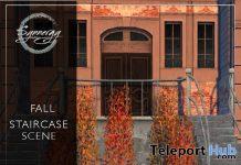 Fall Staircase Scene September 2020 Group Gift by Synnergy - Teleport Hub - teleporthub.com