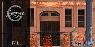 Fall Staircase Scene September 2020 Group Gift by Synnergy - Teleport Hub - teleporthub.com