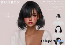 Reiko Hair Pack September 2020 Group Gift by Bonbon - Teleport Hub - teleporthub.com