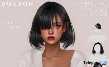 Reiko Hair Pack September 2020 Group Gift by Bonbon - Teleport Hub - teleporthub.com