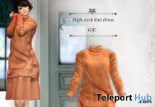 High-neck Knit Dress September 2020 Group Gift by S@BBiA - Teleport Hub - teleporthub.com