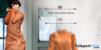 High-neck Knit Dress September 2020 Group Gift by S@BBiA - Teleport Hub - teleporthub.com