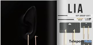 Lia Earrings Fatpack September 2020 Group Gift by e.marie - Teleport Hub - teleporthub.com