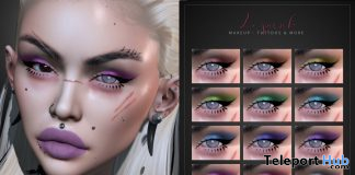 Kye Eyeshadow For Lelutka Evolution September 2020 Group Gift by LePunk - Teleport Hub - teleporthub.com
