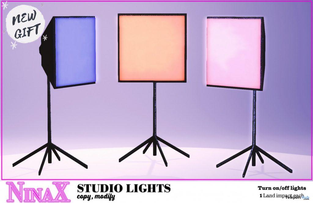 Studio Lights September 2020 Group Gift by NinaX - Teleport Hub - teleporthub.com