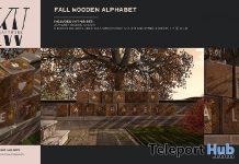 Wooden Fall Alphabet September 2020 Group Gift by KraftWork - Teleport Hub - teleporthub.com