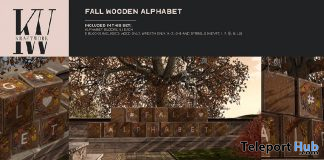 Wooden Fall Alphabet September 2020 Group Gift by KraftWork - Teleport Hub - teleporthub.com