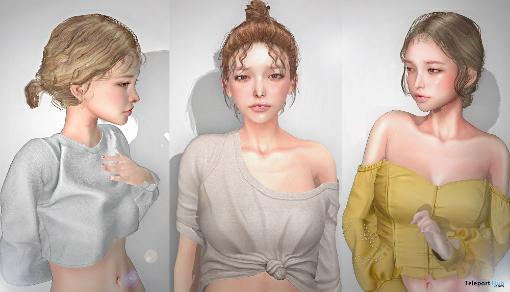 New Release: Hair 10, 11, & 12 by {amiable} @ The Shiny Shabby September 2020 - Teleport Hub - teleporthub.com