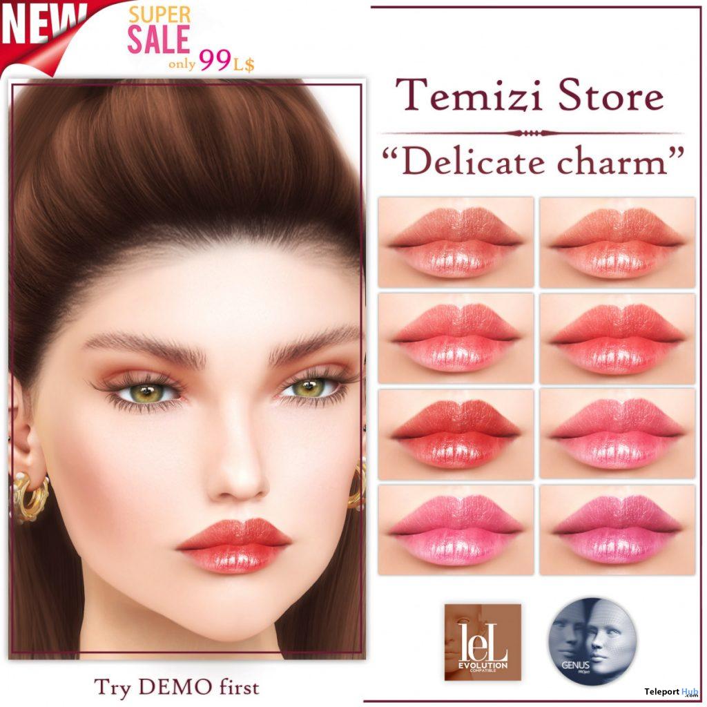 Delicate Charm Lipstick Pack 99L Promo by Temizi - Teleport Hub - teleporthub.com