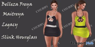Mery Dress Black & Yellow September 2020 Group Gift by Cherry - Teleport Hub - teleporthub.com