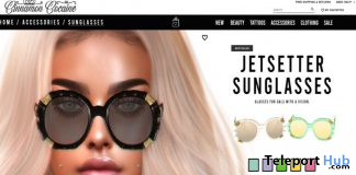 Jetsetter Sunglasses September 2020 Group Gift by Cinnamon Cocaine - Teleport Hub - teleporthub.com
