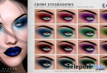 Crime Eyeshadows October 2020 Group Gift by IVES Beauty - Teleport Hub - teleporthub.com