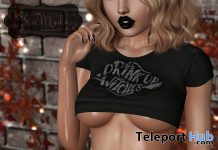 Drink Up Witches Top October 2020 Group Gift by ChicModa - Teleport Hub - teleporthub.com