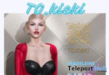 Madeleine Dress Red WIP Event October 2020 Group Gift by TO.KISKI - Teleport Hub - teleporthub.com