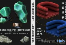 Gentle Sofa & Rock Stone Bento Rings October 2020 Group Gift by VO.Z - Teleport Hub - teleporthub.com