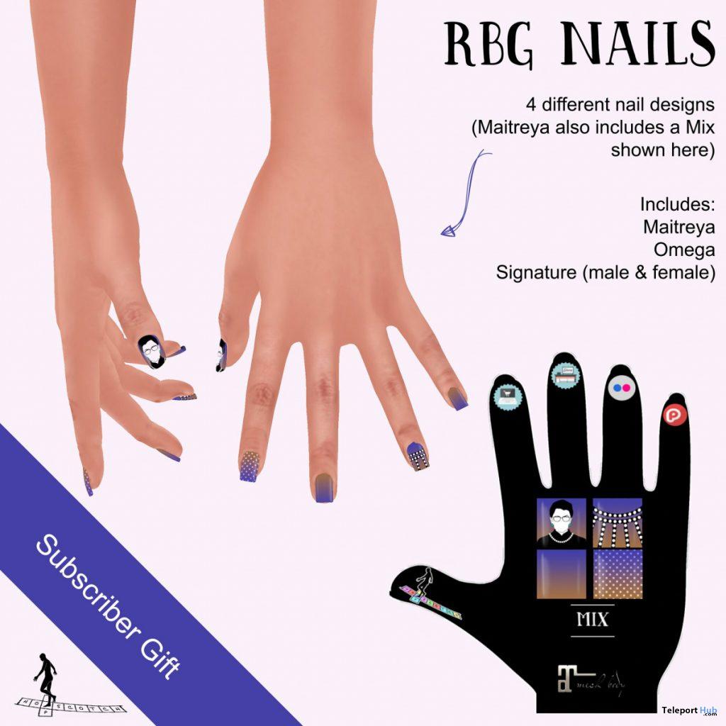 RBG Nails October 2020 Subscriber Gift by HopScotch - Teleport Hub - teleporthub.com