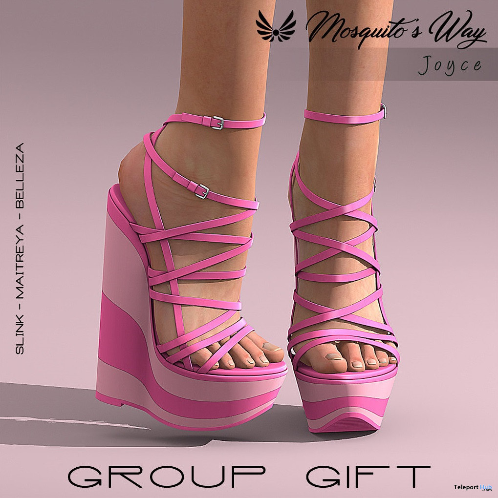Joyce Wedges Pink October 2020 Group Gift by Mosquito's Way - Teleport Hub - teleporthub.com