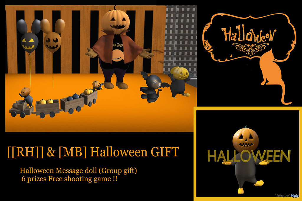 Message Pumpkin Man October 2020 Group Gift by [[RH]] Design House x [MB] - Teleport Hub - teleporthub.com