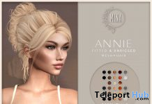 Annie Hair Fatpack October 2020 Group Gift by MINA Hair - Teleport Hub - teleporthub.com
