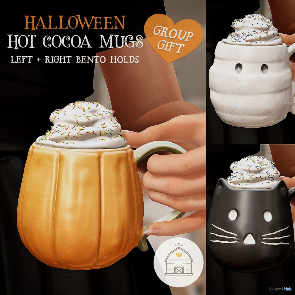Halloween Hot Cocoa Mugs October 2020 Group Gift by hive - Teleport Hub - teleporthub.com