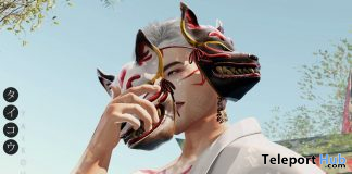 Kitsune Mask October 2020 Group Gift by taikou - Teleport Hub - teleporthub.com